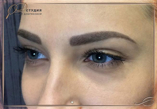 Перманентный макияж бровей в Санкт-Петербурге - фото