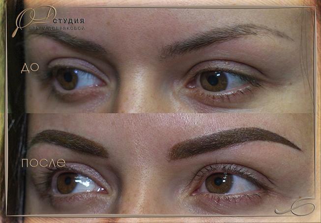 Фото коррекции татуажа броваей: до и после