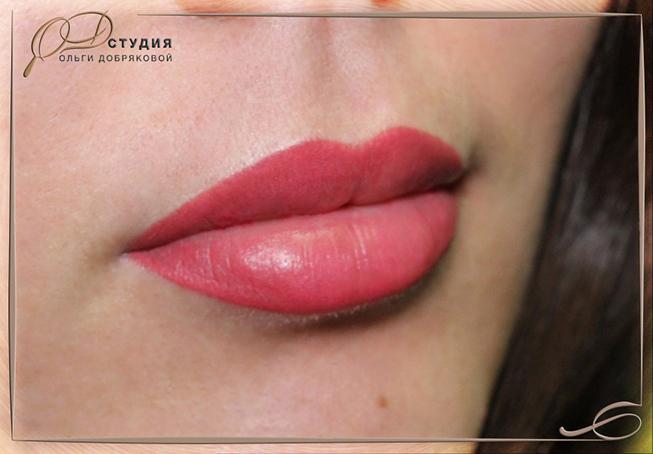 Фото перманента губ